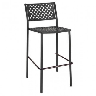 Italian Wrought Iron Restaurant Bar Stools Lola 75 Bar Stool