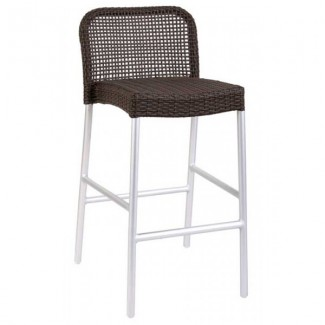 Italian Wrought Iron Restaurant Bar Stools Rita Bar Stool - Aluminum Collection