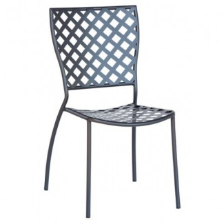 Italian Wrought Iron Restaurant Chairs Dalia 1 Side Chair