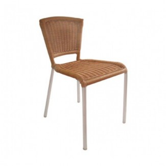 Laura Aluminum Stacking Side Chair