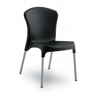 Nido Aluminum Stacking Side Chair