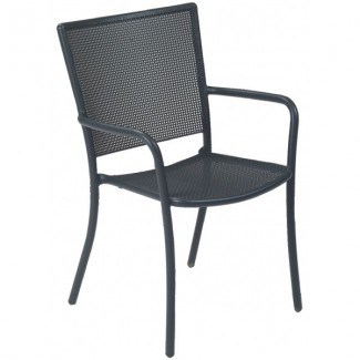 Italian Wrought Iron Restaurant Chairs Podio Arm Chair