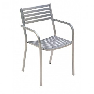 Italian Wrought Iron Restaurant Chairs Segno Arm Chair