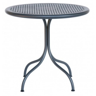 "Italian Wrought Iron Restaurant Tables Bistrot 80R 32"" Round Table"