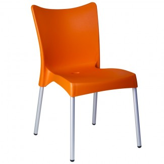 Juliette Stacking Resin Side Chair - Orange