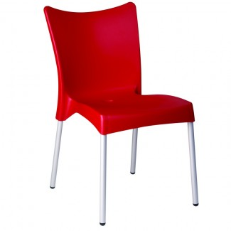 Juliette Stacking Resin Side Chair - Red
