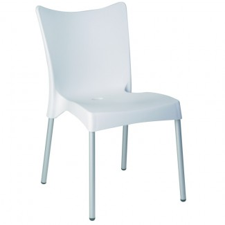 Juliette Stacking Resin Side Chair - White