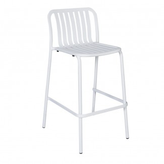 Key-West-PHKWBS Aluminum Outdoor Restaurant Hospitality Modern Slat Stacking Dining Bar Stool