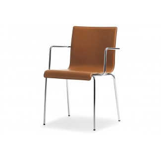 Pedrali Kuadra XL Leather Arm Chair