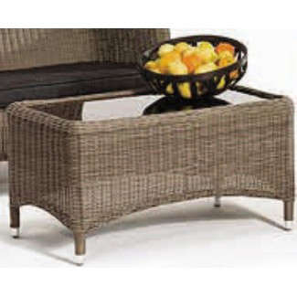 Lakena Coffee Table with Glass Top