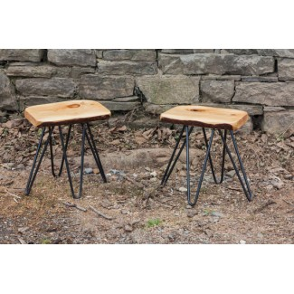 Live Edge Slab Dining Stool
