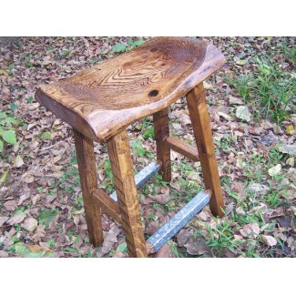 Reclaimed Wood Bar Stools Live Edge Stool