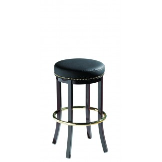 Lounge Backless Bar Stool with Brass Nail Trim 911-30