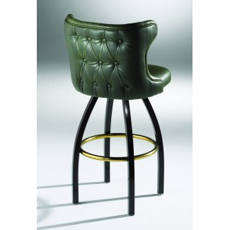 Lounge Swivel Bar Stool with Button Back 901-30-K-BTO