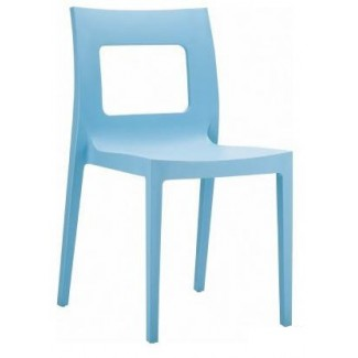 Lucca Stacking Resin Side Chair - Light Blue