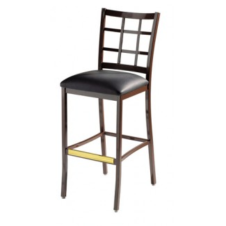 Luckhardt Bar Stool with Window Back 813