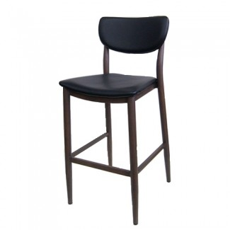 M5641BS Desi Midcentury Modern MCM Upholstered Commercial Restaurant Bar Cafe Barstool black