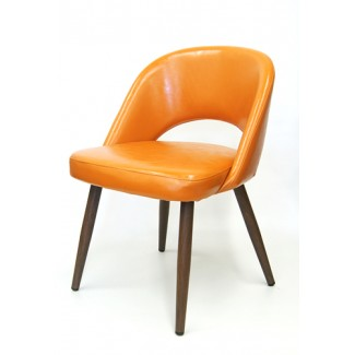 Wood-Grain Metal Jetson Side Chair