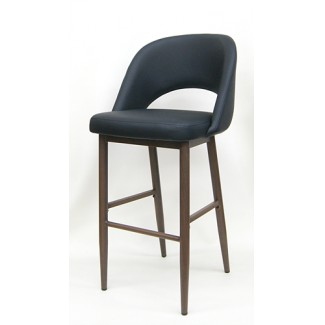M5670BS black Commercial Restaurant Mid Century Modern Jetson Upholstered Dining Bar Stool