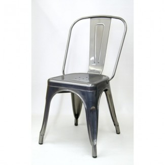 Edison Restaurant Chair - Pewter Finish