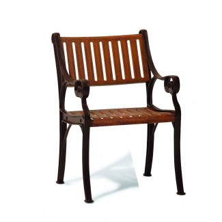 Madison Faux Wood Arm Chair