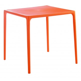 "Mango 28"" Square Stacking Restaurant Dining Table in Orange"