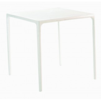 "Mango 28"" Square Stacking Restaurant Dining Table in White"
