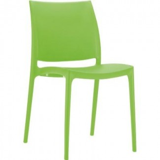 Maya Stacking Restaurant Side Chair in Orange