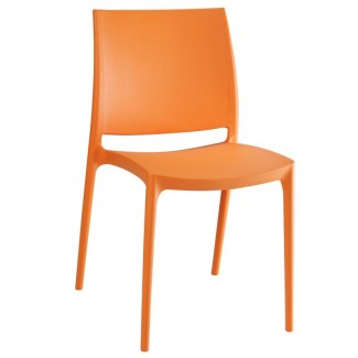 Maya Stacking Resin Side Chair - Orange