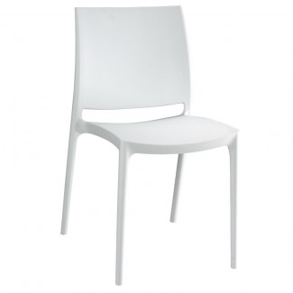 Maya Stacking Resin Side Chair - White