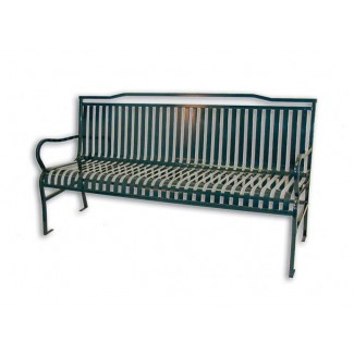Metropolis 6' Commercial Steel Bench