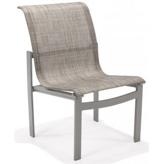 Meza Nesting Dining Chair Sling Seat Without Arms