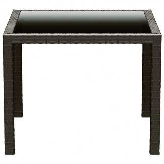 "Miami 37"" Square Restaurant Dining Table in Brown"