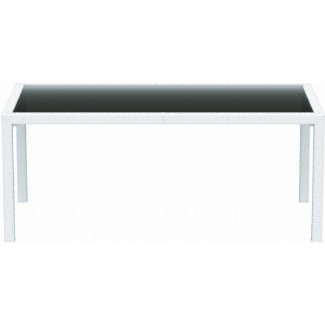 "Miami 37"" x 71"" Restaurant Dining Table in White"