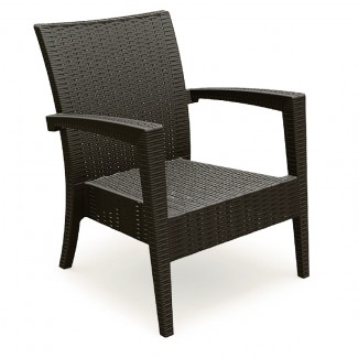 Miami Stackable Restaurant Club Chair in Coffee Brown