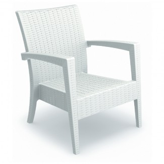 Miami Stackable Restaurant Club Chair in White