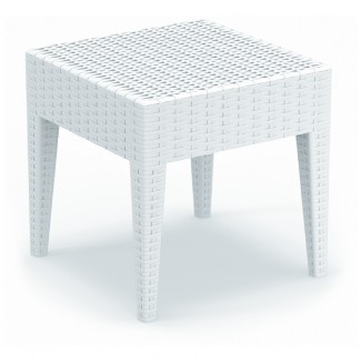Miami Restaurant Side Table in White