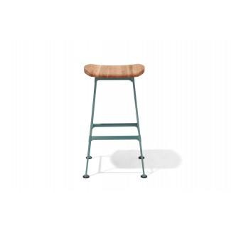 Miley Backless Mid-Century Modern Bar Stool