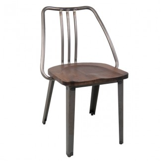 mj-1071 CFC-1071 Industrial Rustic Commercial Restaurant  Indoor Wood and Metal Chair