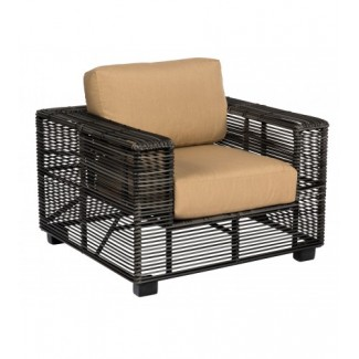Monroe S591011 Modern Outdoor Hotel Pool Lounge Commercial Woven Upholstered Arm Chair