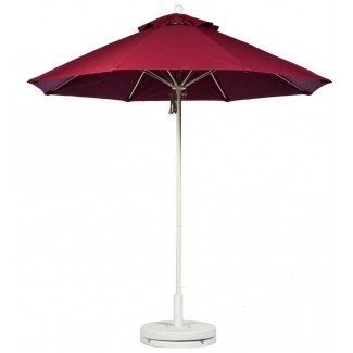 7-5 Foot Fiberglass Market Umbrella With Aluminum Pole - Pulley Lift