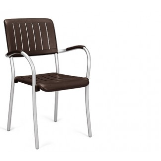 Musa Stacking Restaurant Side Chair in Black