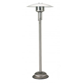 Natural Gas Patio Heater Stainless Steel with Push Button Ignition