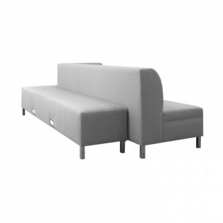 Nicolette Fully Upholstered Hospitality Commercial Restaurant Lounge Hotel Dining Settee Bench