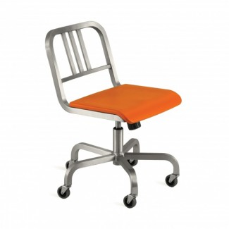 Nine-0 Aluminum Non-Stacking 3-Bar Back Swivel Chair with Casters