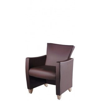 Novella Lounge Chair with Wood Legs 831