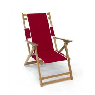 Oak Wood Beach Lounge Chair