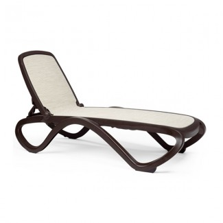 Omega Stacking Resin Chaise Lounge