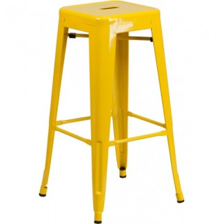 Westinghouse Backless Bar Stool - Yellow