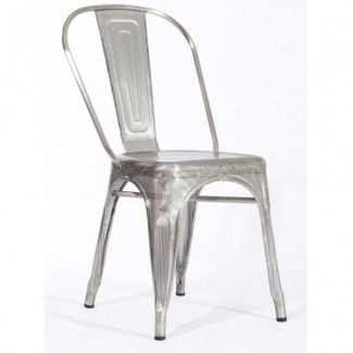 Outdoor Industrial Style Restaurant Chairs Westinghouse Perforated Side Chair - Stainless Steel